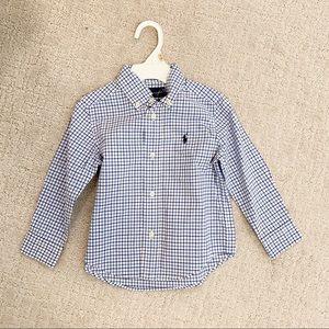 POLO RALPH LAUREN Checker Plaid Button Down Shirt
